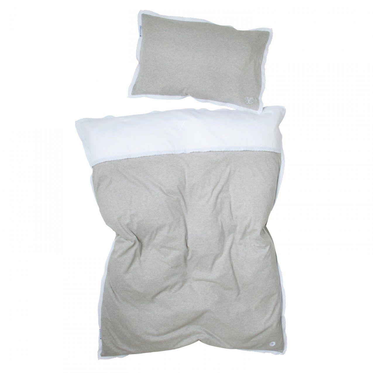 Kinderbettwäsche Grau Spitze Aus 100% Baumwoll Hochwertige Qualität von Bettwäsche Weiß Spitze Photo
