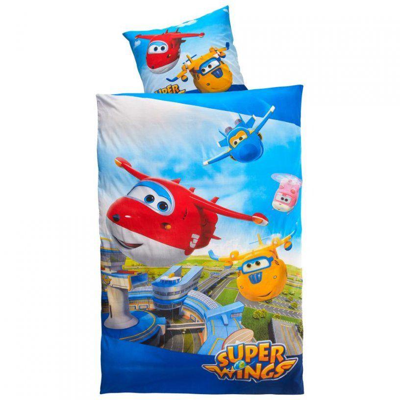 Kinderbettwäsche Super Wings (135X200) Preiswert  Dänisches Bettenlager von Kinderbettwäsche 100X135 Dänisches Bettenlager Bild