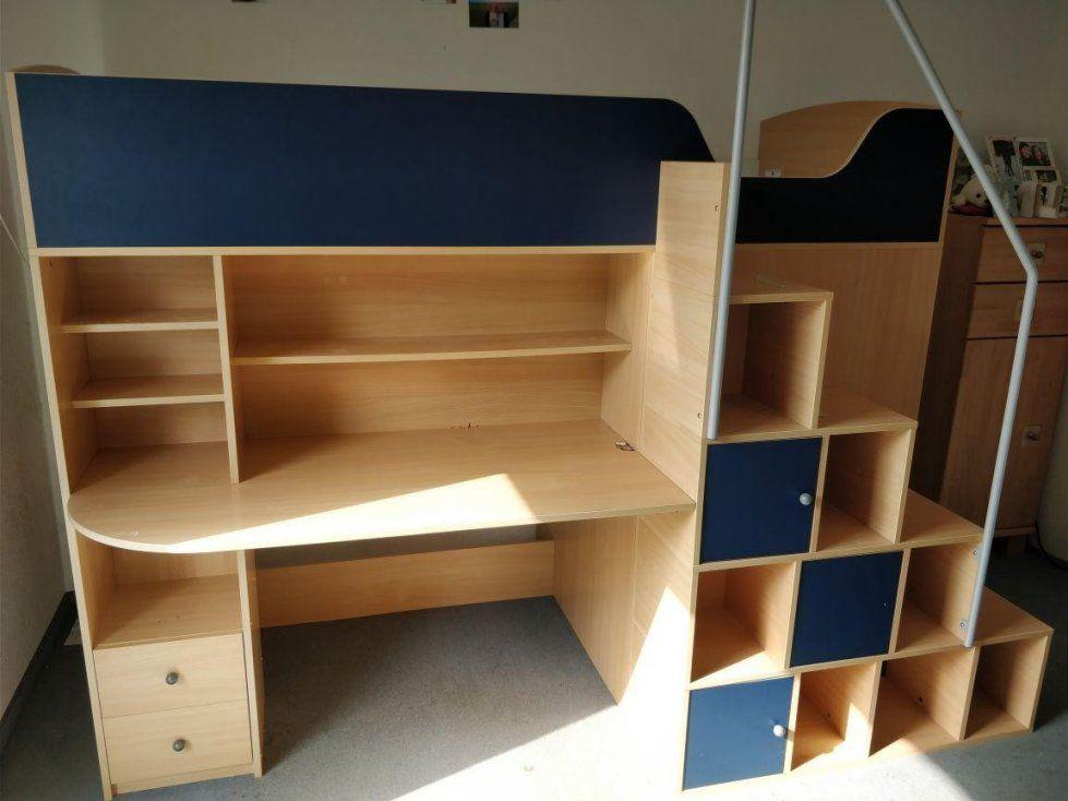 Kinderhochbett Mit Integriertem Schreibtisch Regal Kl von Kleiderschrank Mit Integriertem Schreibtisch Bild