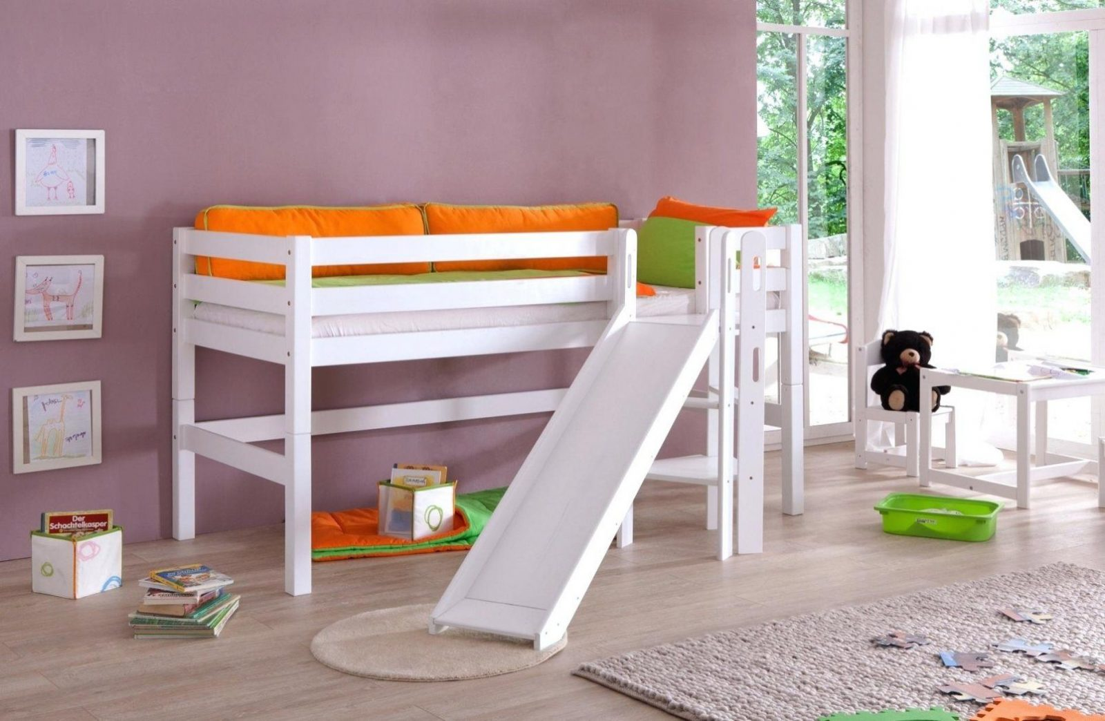 Kinderhochbett Selber Bauen Hochbett Mit Ikea Mabeln Designs Von von Hochbett Rutsche Selber Bauen Bild