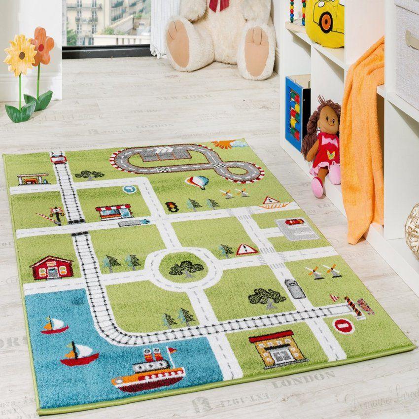Kinderteppich Spielteppich City Hafen Straßenteppich Stadt Straße von Kinderzimmer Teppich Für Jungs Bild
