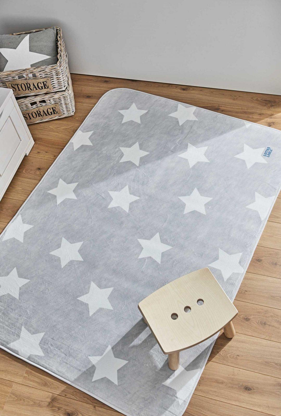 Kinderteppich Sterne Grau von Lottas Lable Teppich Sterne Bild