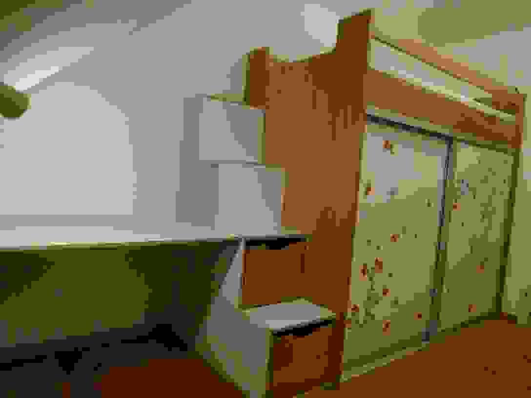Kinderzimmer Mit Hochbett Schrank + Schreibtisch In Eiche Und von Hochbett Mit Treppe Und Schrank Photo