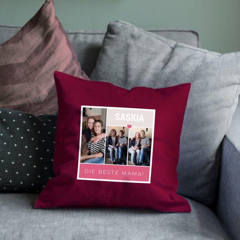Kissen Muttertag Mit Eigenem Foto  Yoursurprise von Bettwäsche Mit Eigenem Bild Bild