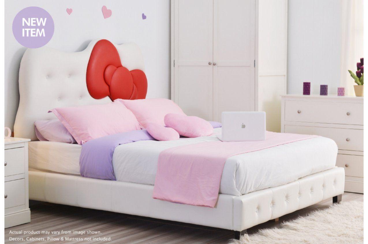 Kitty Queen Bed Ribbon  Red von Hello Kitty Bed Frame Bild
