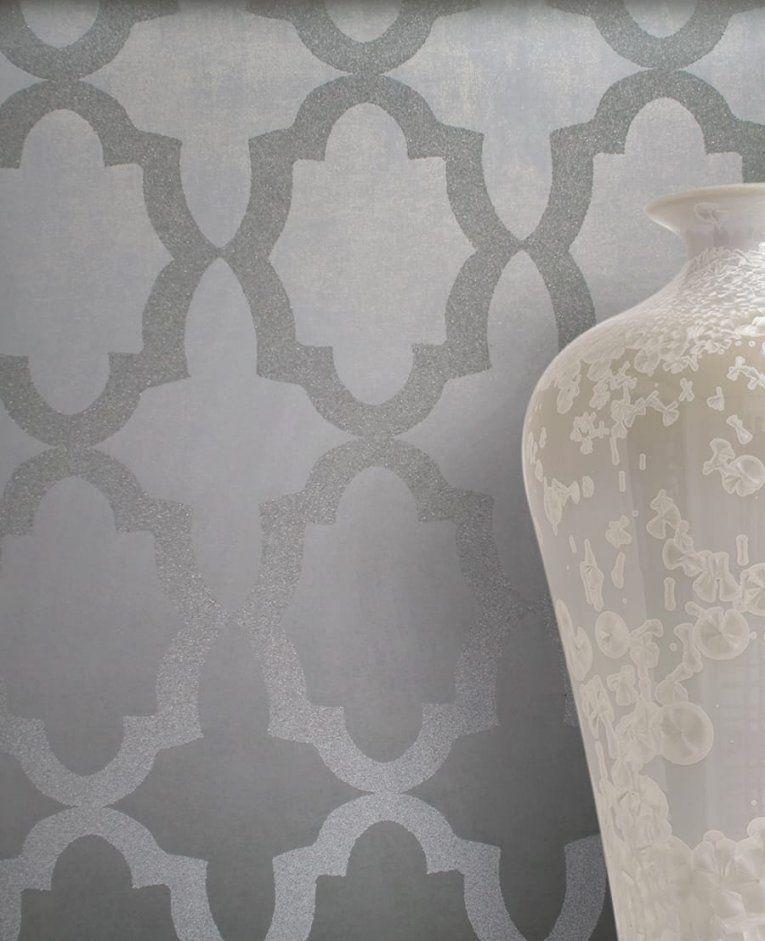 Klassische Tapeten  Tapetenstudio von Tapete Grün Grau Gestreift Bild