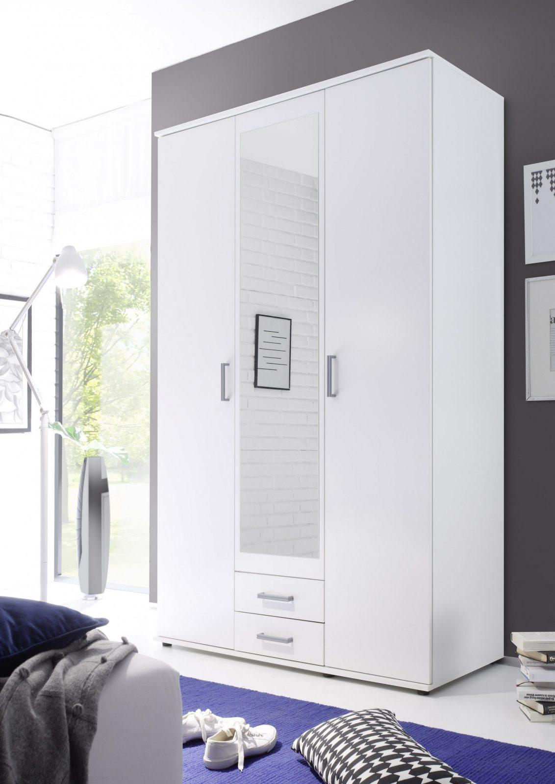 Kleiderschrank Drehtüren Schrank Schlafzimmerschrank Weiß Mit von Kleiderschrank Weiß 120 Cm Breit Bild