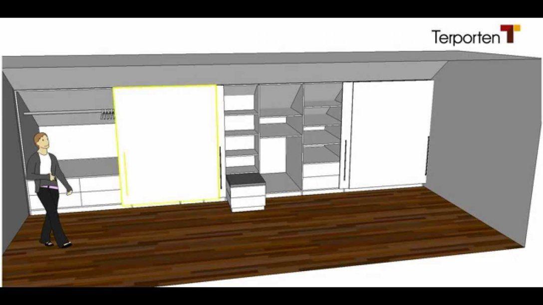 Kleiderschrank In Einer Dachschräge Terporten Tischler Schreiner von Schiebetür Dachschräge Selbst Bauen Bild