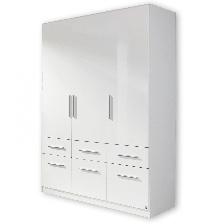 Kleiderschrank Manja  Weiß Hochglanz  136 Cm Breit von Kleiderschrank 1 40M Breit Bild