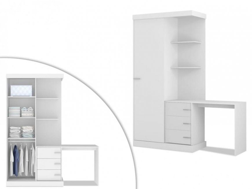 Kleiderschrank Mit Integriertem Schreibtisch Fika   Real von Schrank Mit Integriertem Schreibtisch Photo