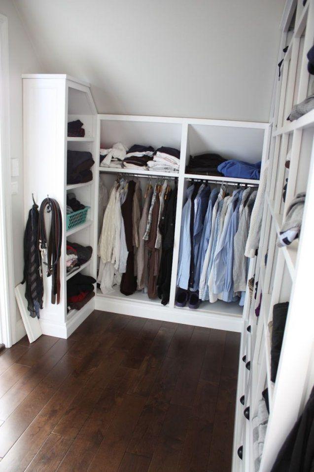 Kleiderschrank Selber Bauen  Schrank Mit Schräge  Kleiderschrank von Kleiner Begehbarer Kleiderschrank Selber Bauen Bild