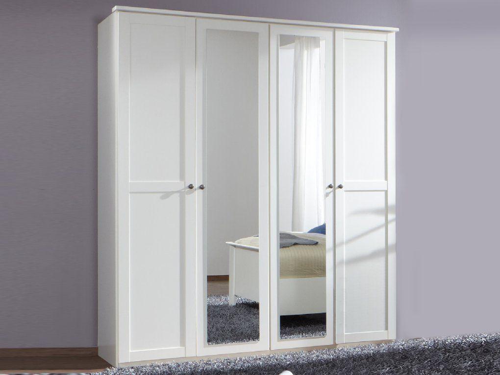 Kleiderschrank Weis 160 Breit Schrank Holz Cm Hochglanz Schiebetur von Kleiderschrank Weiß 160 Breit Bild
