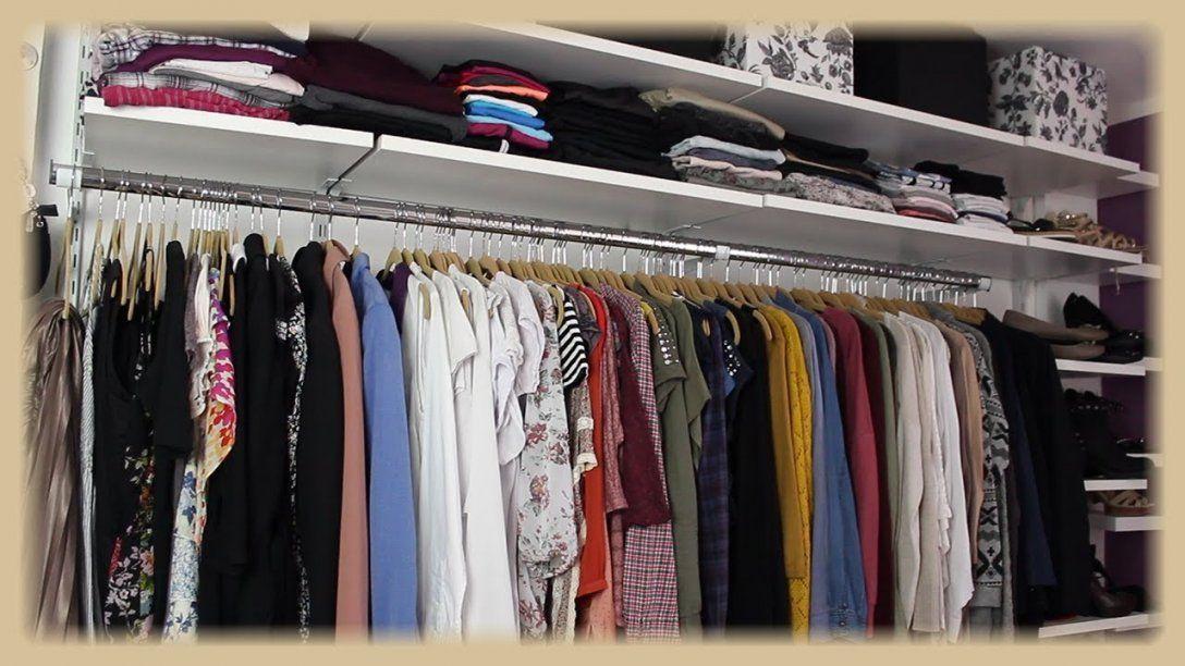 Kleiderschrankwand  Begehbarer Kleiderschrank  Walk In  Regalraum von Regalsystem Kleiderschrank Selber Bauen Bild