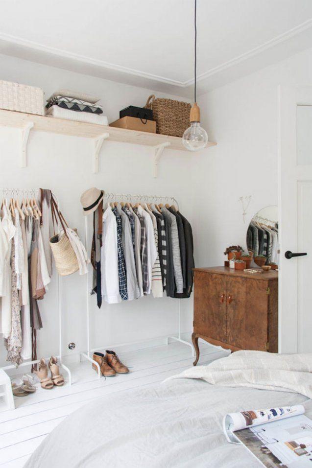 Kleiderstange Statt Kleiderschrank  Ideen Für Modeliebhaber von Kleiderstange Aus Holz Selber Bauen Photo