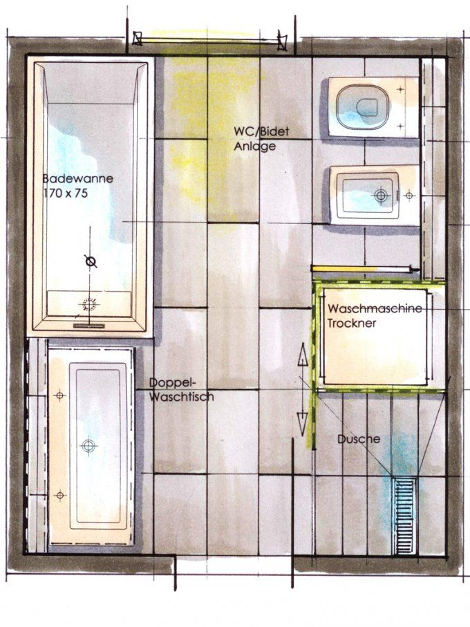 Kleine Bäder Gestalten ▷ Tipps & Tricks Für's Kleine Bad  Bauen von Grundriss Badezimmer 10 Qm Bild