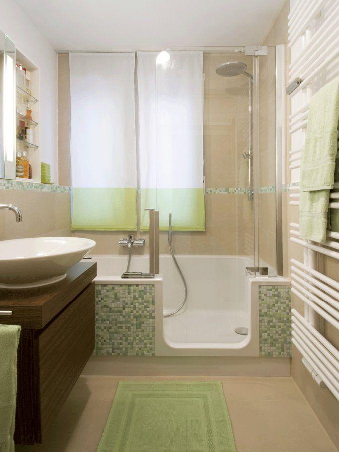 Kleine Bäder Gestalten ▷ Tipps & Tricks Für's Kleine Bad  Bauen von Kleines Bad Optisch Vergrößern Bild