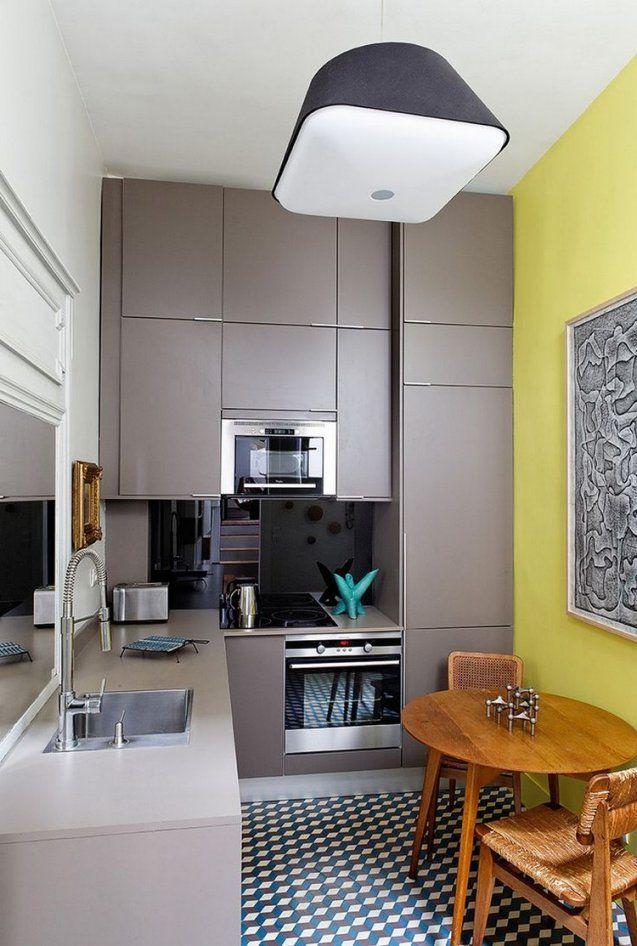Kleine Küche Einrichten  Tipps Für Raumverteilung von Kleine Schmale Küche Einrichten Bild