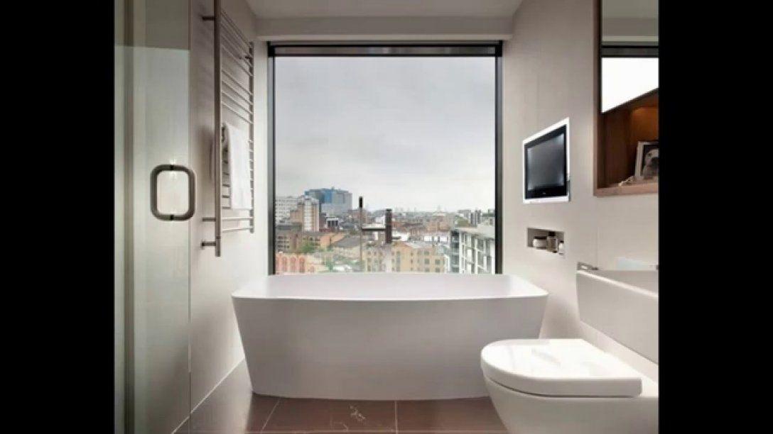 Kleine Moderne Badezimmer  Youtube von Kleines Bad Optisch Vergrößern Photo