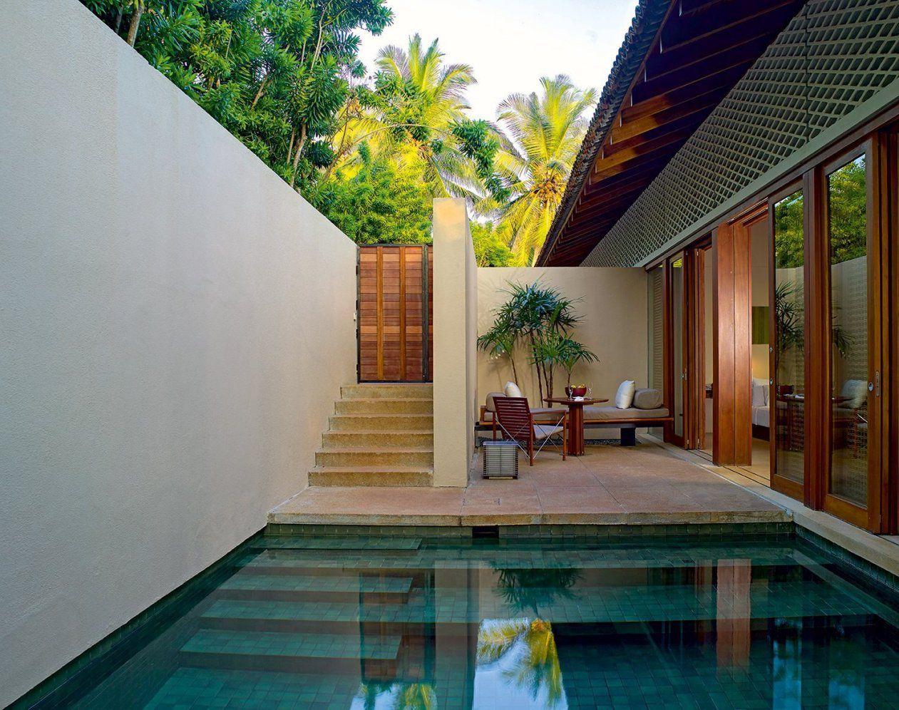 Kleine Terrasse Gestalten Mit Pool Und Terrassenmöbel Holz von Kleine Terrasse Gestalten Ideen Photo