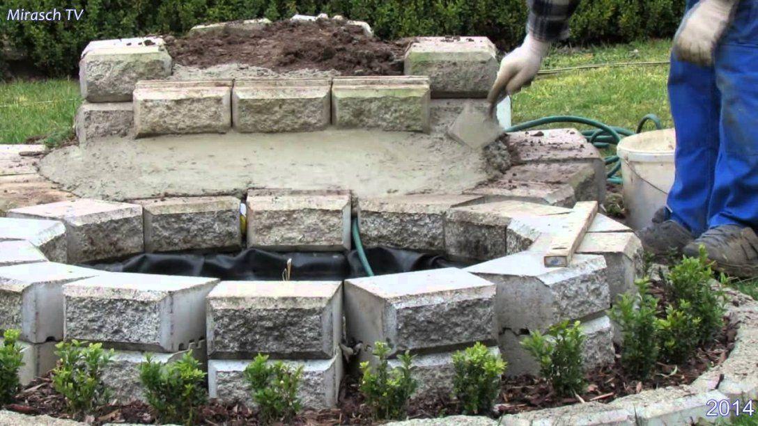 Kleine Wasserfall Im Garten Bauenvideo 1  Youtube von Mauer Wasserfall Selber Bauen Bild