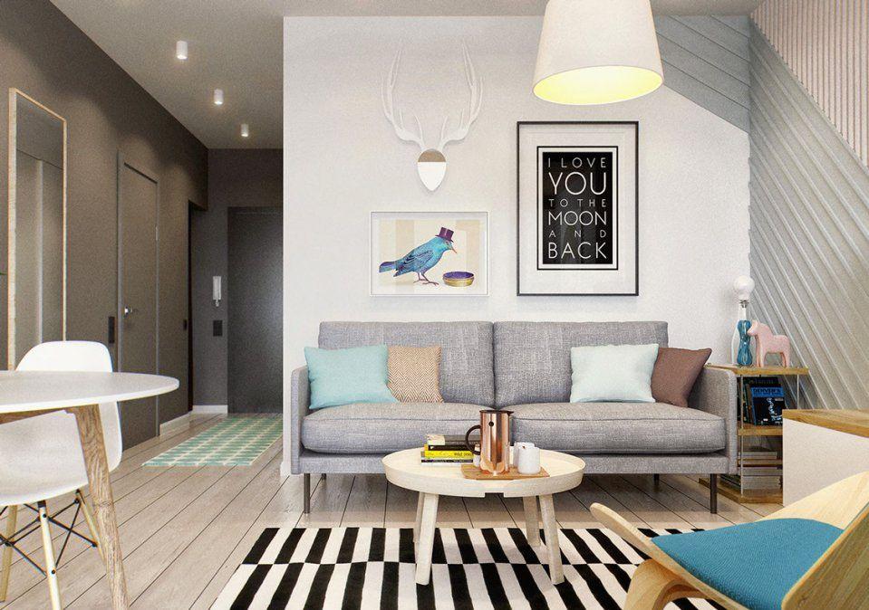 Kleine Wohnung Modern Und Funktionell Einrichten  Freshouse von 1 Raum Wohnung Einrichten Photo