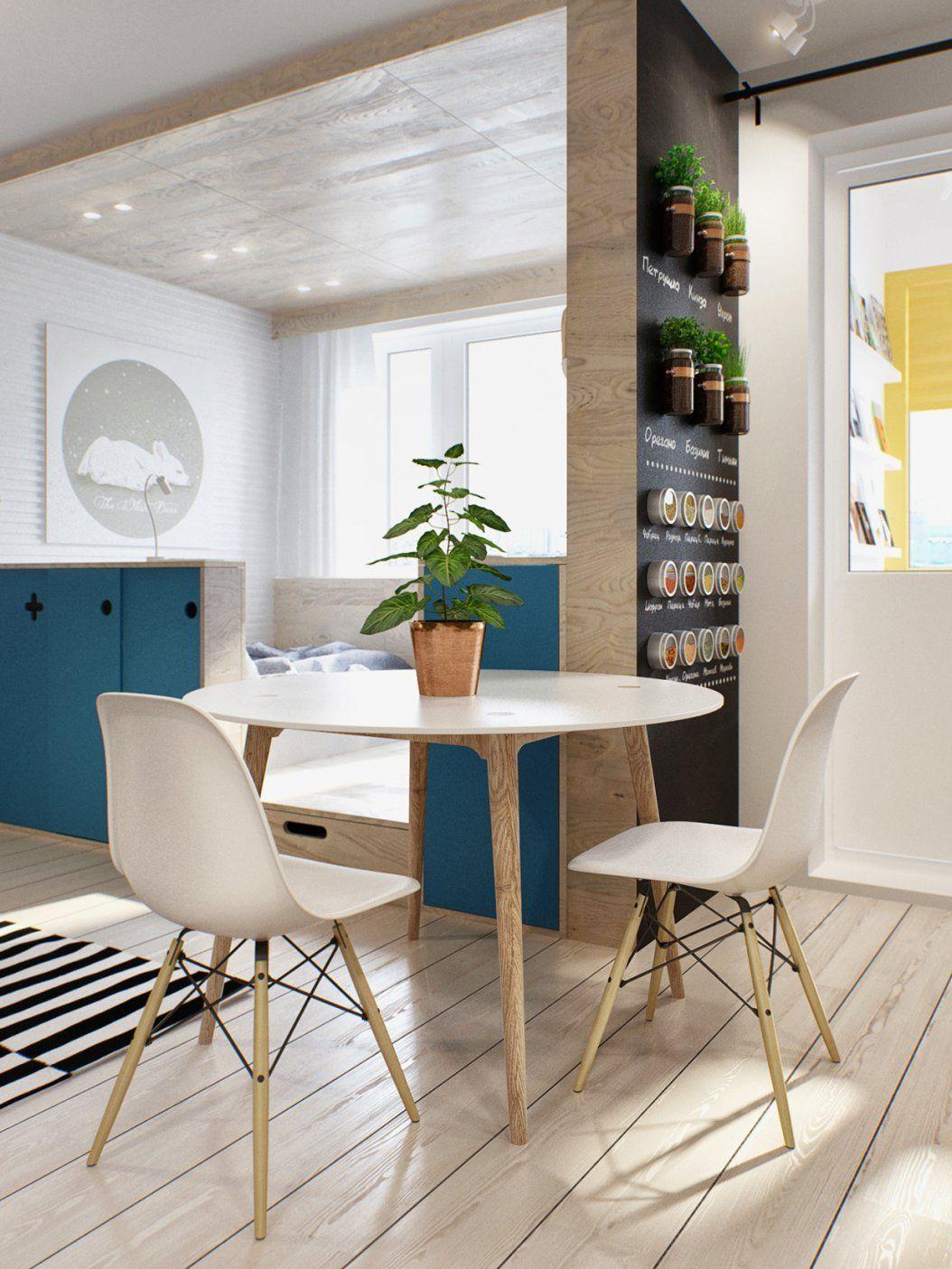 Kleine Wohnung Modern Und Funktionell Einrichten  Freshouse von 40 Qm Wohnung Einrichten Bild