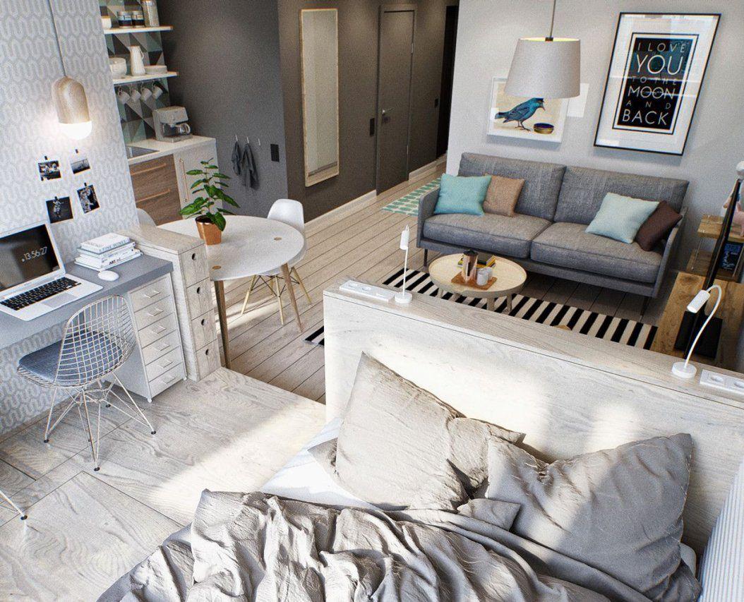 Kleine Wohnung Modern Und Funktionell Einrichten  Kleine Wohnung von 1 Zimmer Wohnung Einrichten Ideen Photo