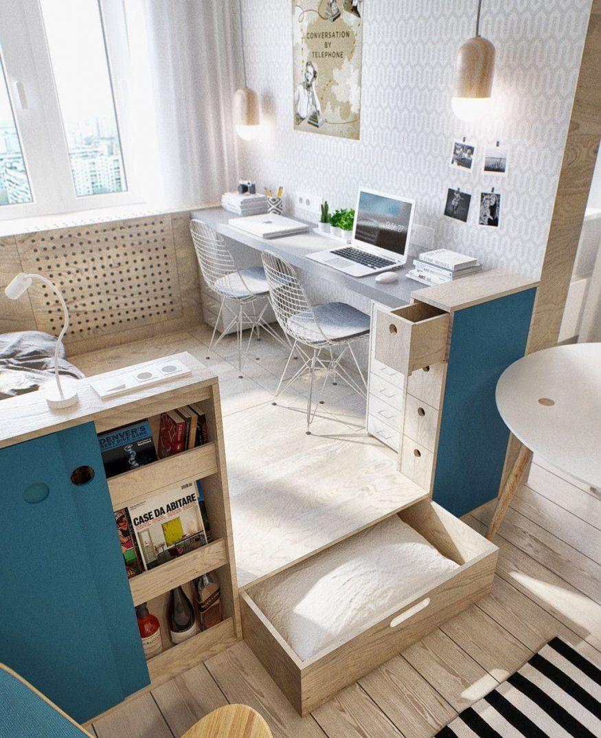 Kleine Wohnung Modern Und Funktionell Einrichten  Kleines von Jugendzimmer Gestalten Kleiner Raum Bild