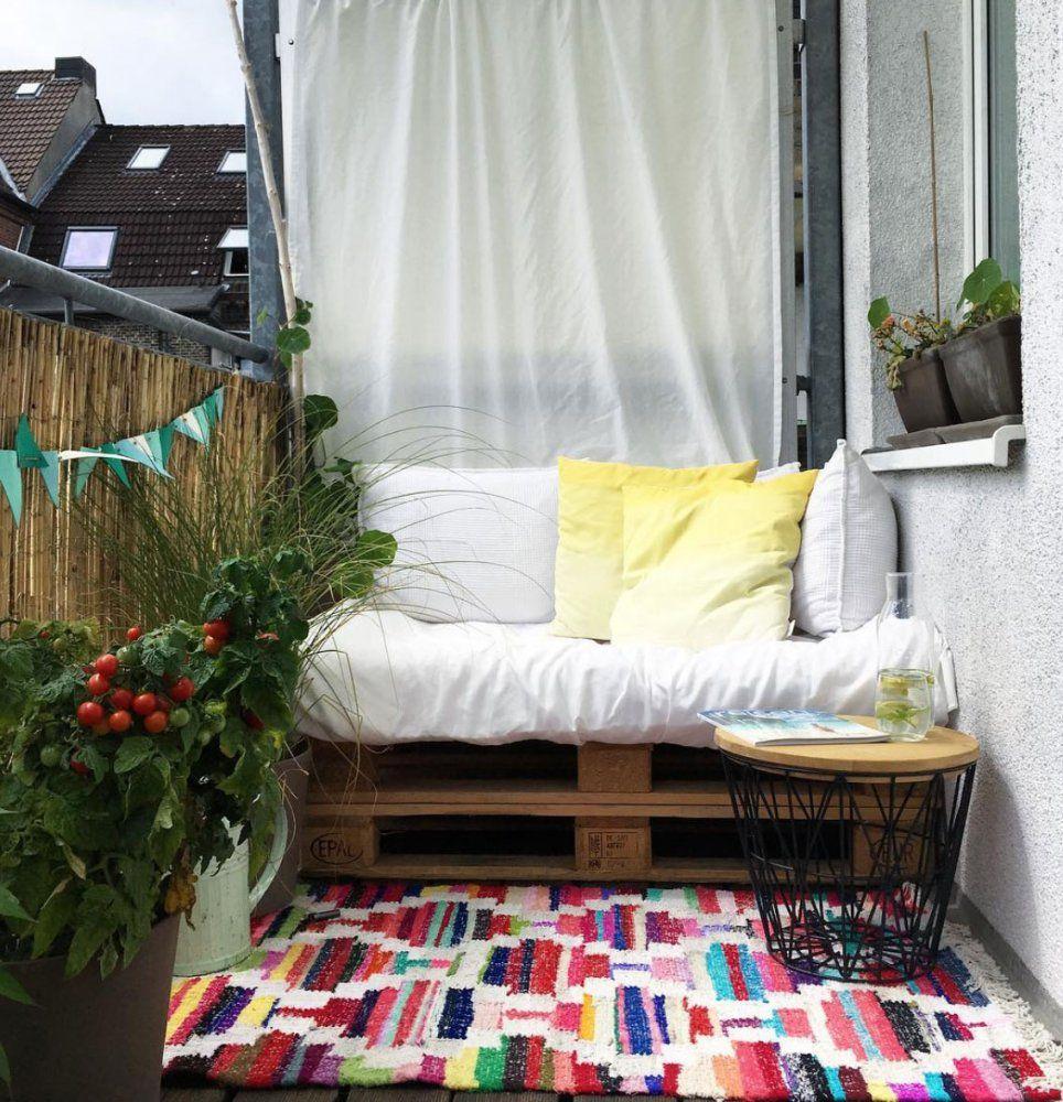 Kleinen Balkon Gestalten  Wohnkonfetti von Ideen Für Schmalen Balkon Bild