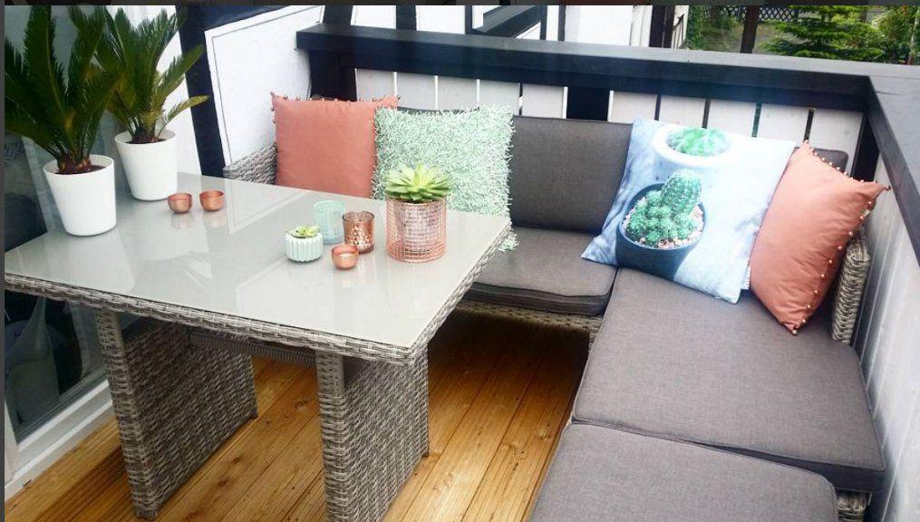 Kleinen Balkon Gestalten  Wohnkonfetti von Lounge Möbel Kleiner Balkon Bild
