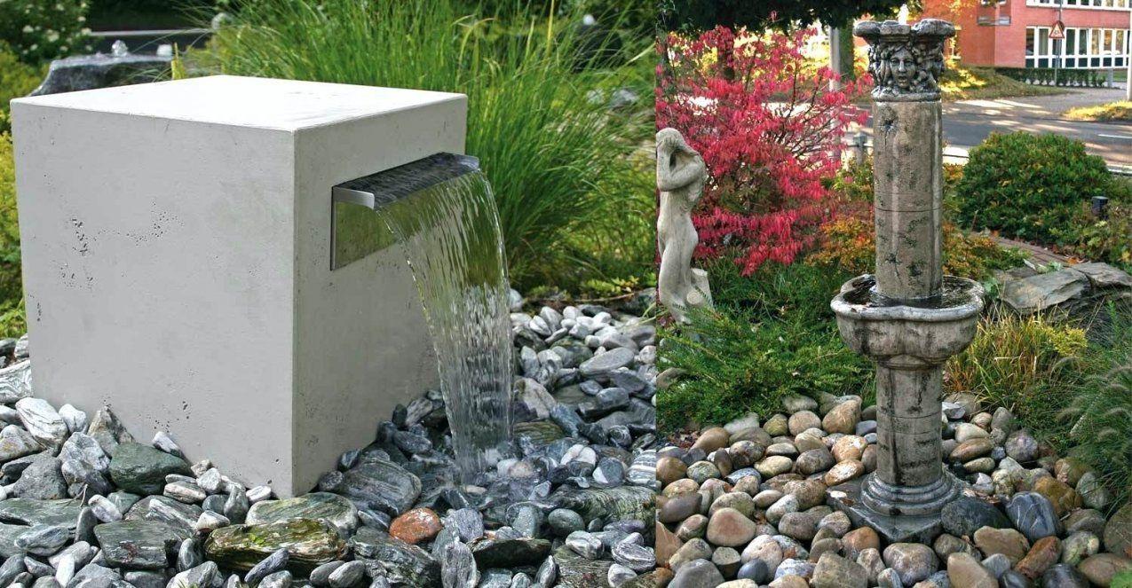 Kleiner Gartenbrunnen Klassicher Italienischer Brunnen Englischer von Kleinen Brunnen Selber Bauen Bild