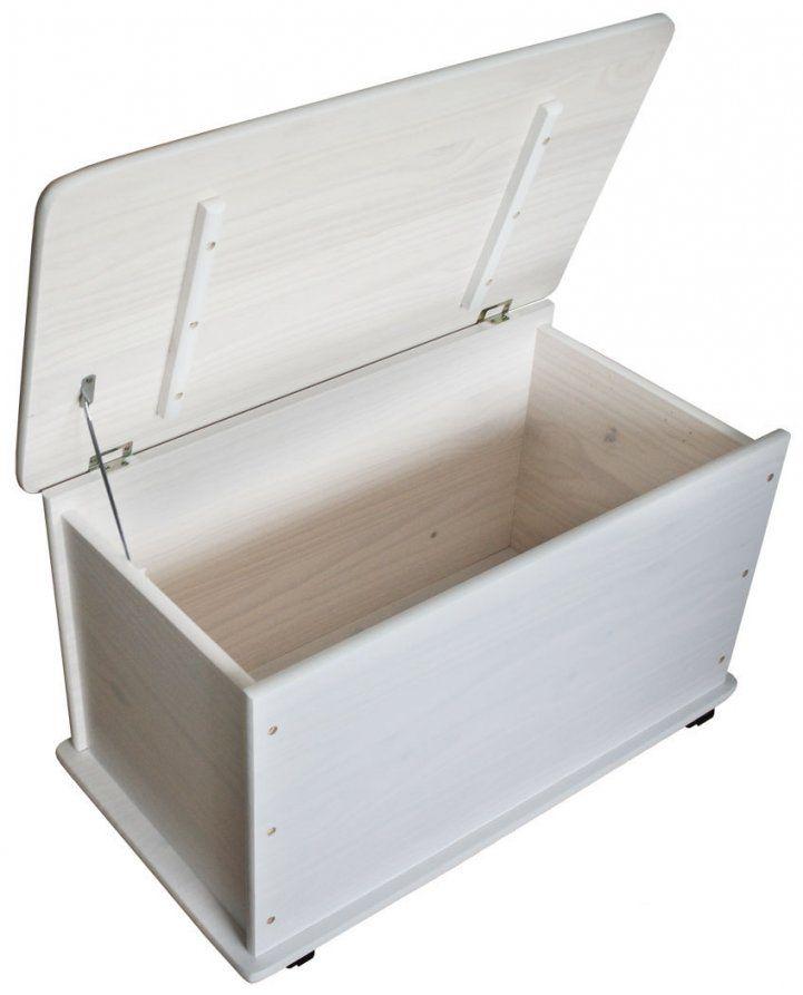 Kmh® Spielzeugkiste Spielzeugbox Holzkiste Weiß Deckel Truhe von Spielzeugkiste Holz Mit Deckel Bild