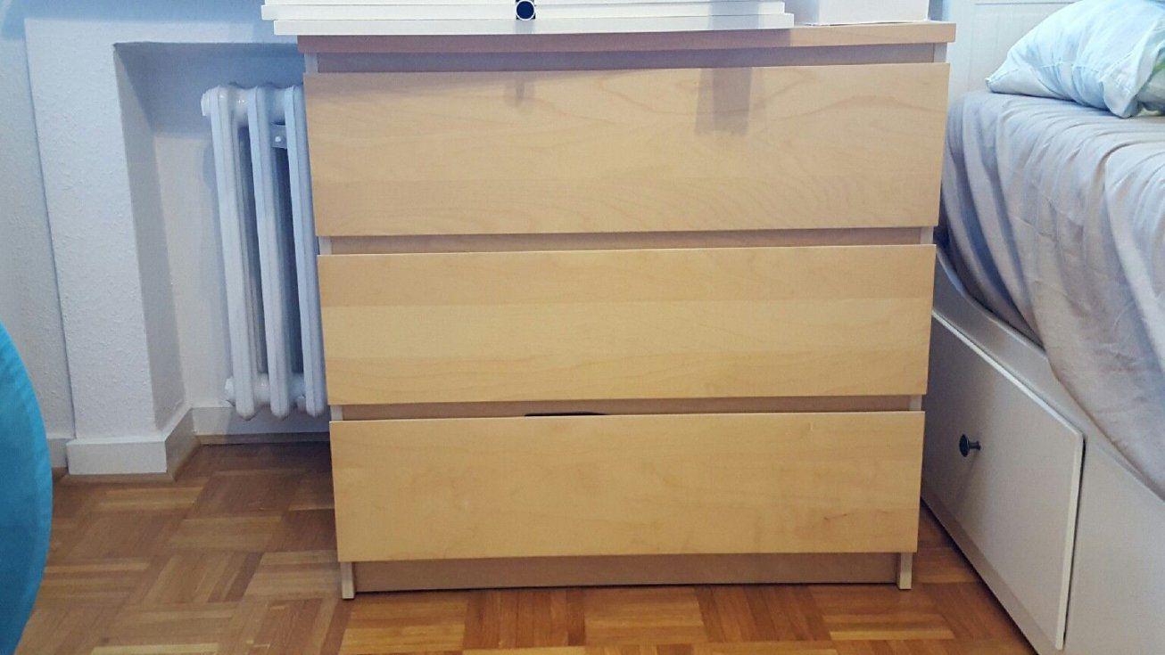Kommode Ikea Birke von Malm Kommode Birke 3 Schubladen Bild