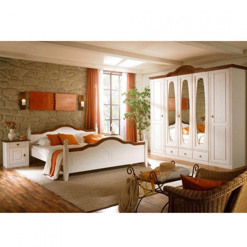 Komplett Landhaus Schlafzimmer Obus In Weiß  Pharao24 von Schlafzimmer Komplett Weiß Landhaus Bild