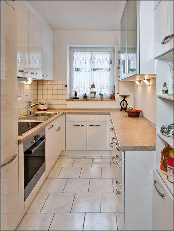 Küche Fesselnd Kleine Küche Einrichten Fein Kleine Schmale Küche von ...