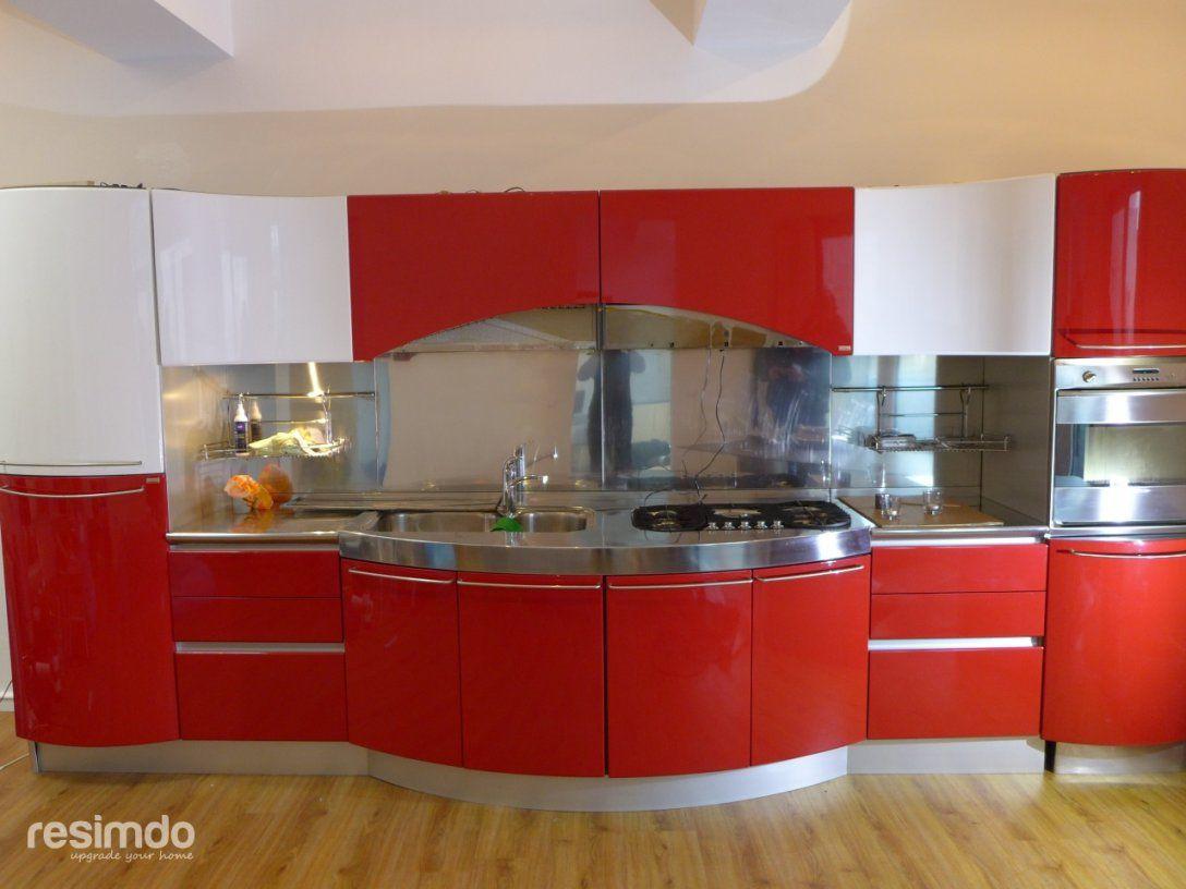 Küche Folieren  Rot Zu Weiß Hochglanz  Resimdo von Küche Folieren Lassen Kosten Bild