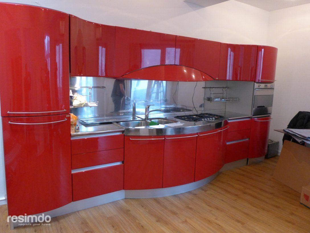 Küche Folieren  Rot Zu Weiß Hochglanz  Resimdo von Küchenfronten Bekleben Lassen Kosten Photo
