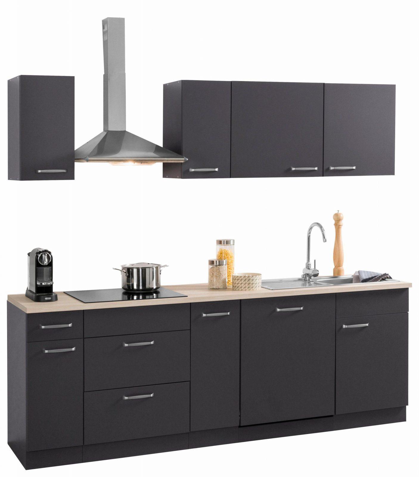 Küchen Küchenzeile Mit Egeräten Basel Breite 230 Cm Kaufen  Baur von Küchenzeile 230 Cm Breit Photo