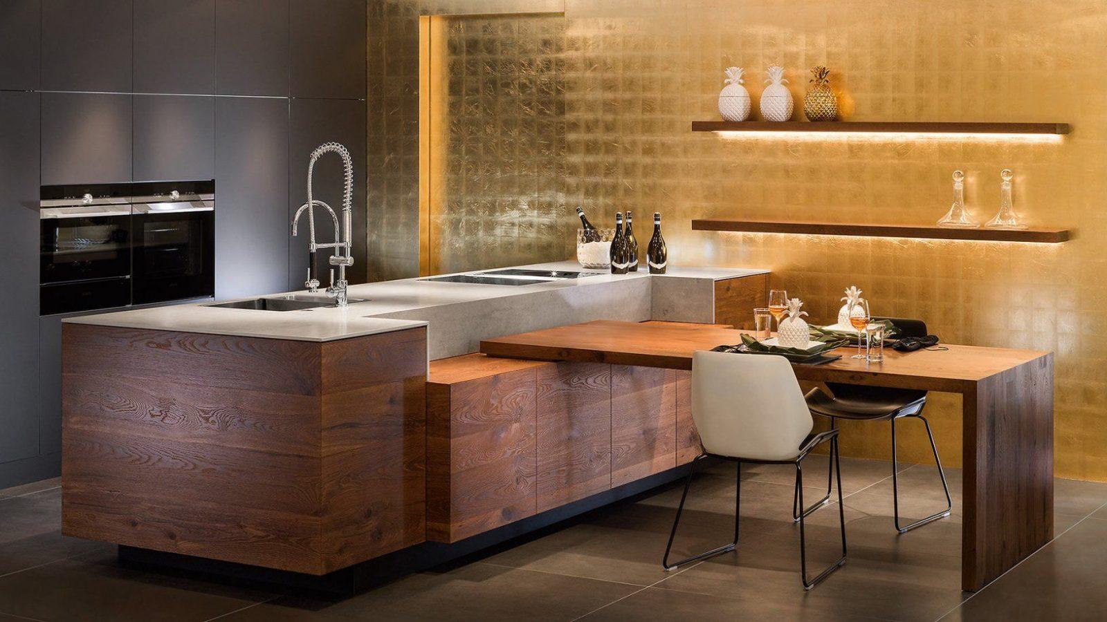 K che mit integriertem tisch haus design ideen for Tisch bild von ivy design