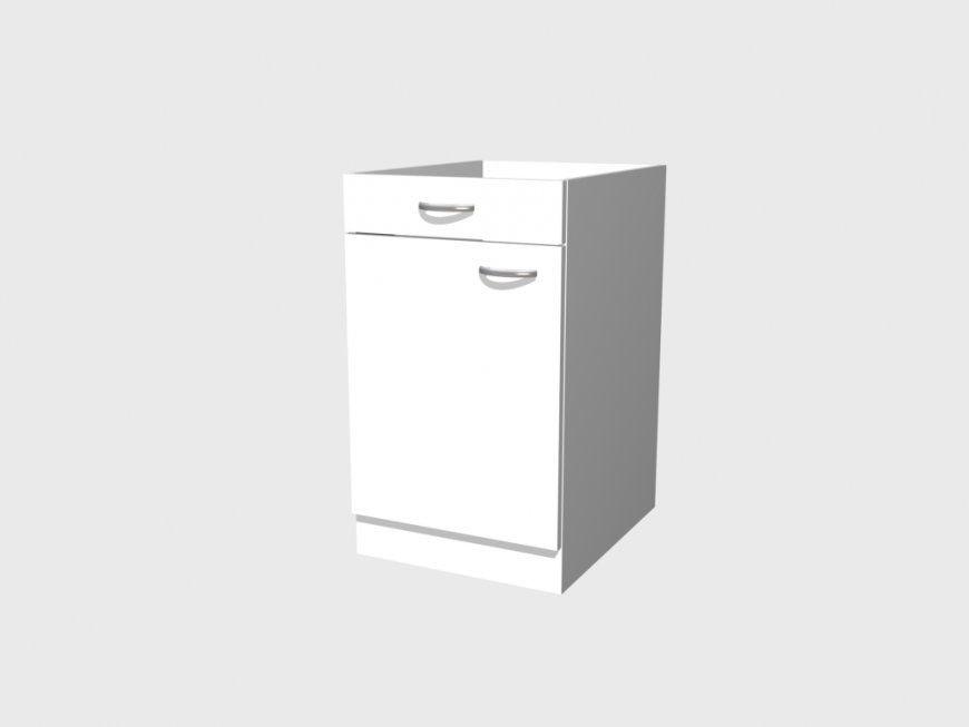 Küchen Unterschrank 50 Cm Ohne Arbeitsplatte Weiss  Witus Küche von Unterschrank Küche Ohne Arbeitsplatte Bild