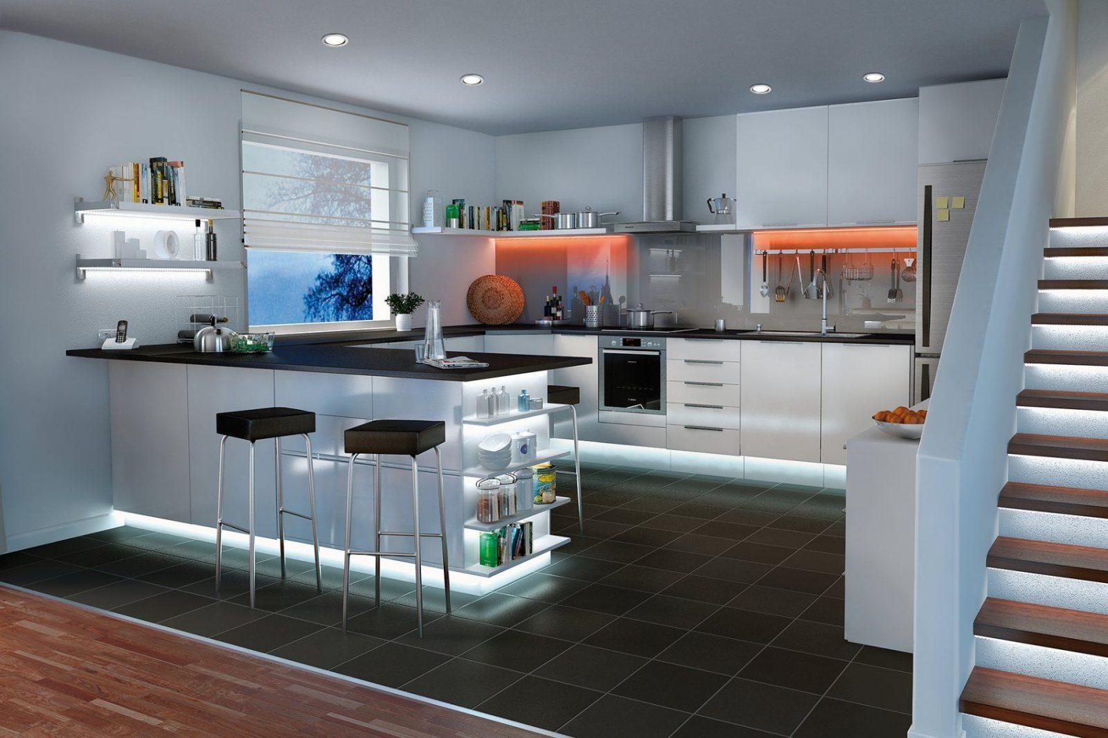 Küchenbeleuchtung  Funktional Und Stimmungsvoll  Paulmann Licht von Beleuchtung Küche Ohne Oberschränke Photo