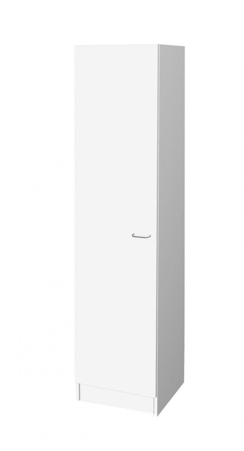 Küchenhochschrank Bochum  1Türig  50 Cm Breit  Weiß Küche von Hochschrank Küche 50 Cm Breit Bild