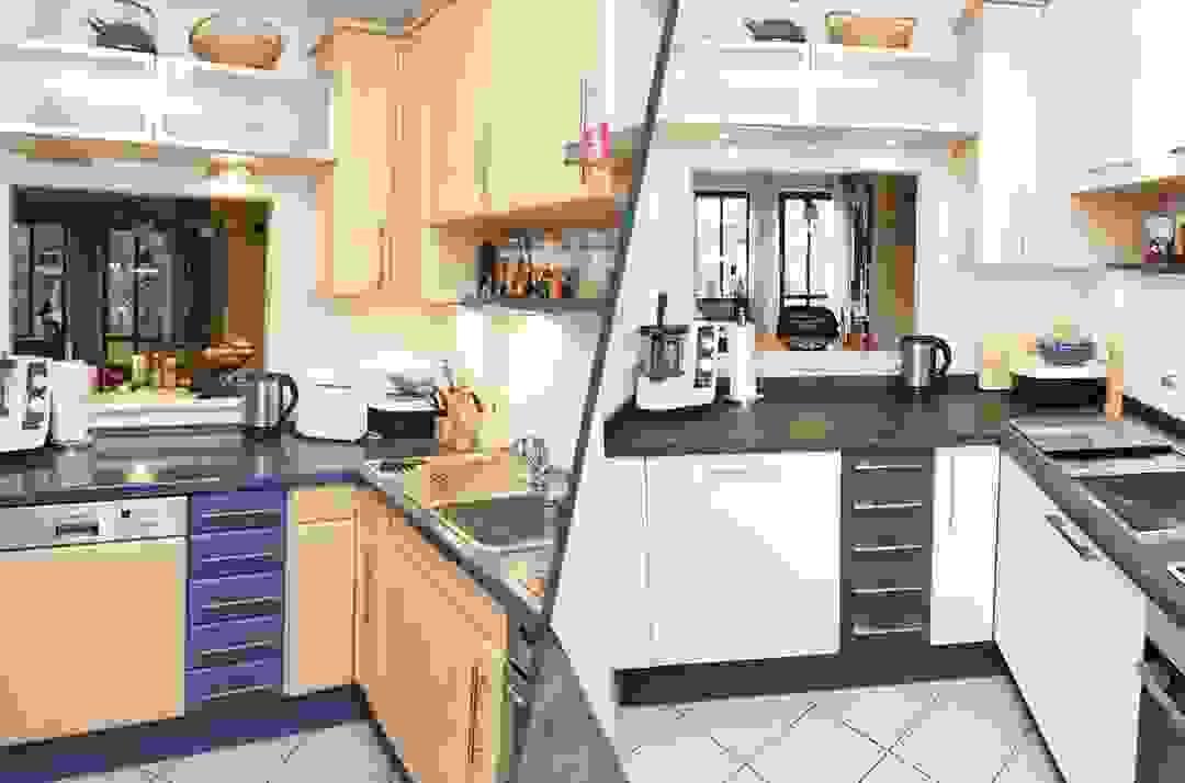 Küchenrenovierung In München – Einfach Geplant  Elha Service von Küche Verschönern Vorher Nachher Photo