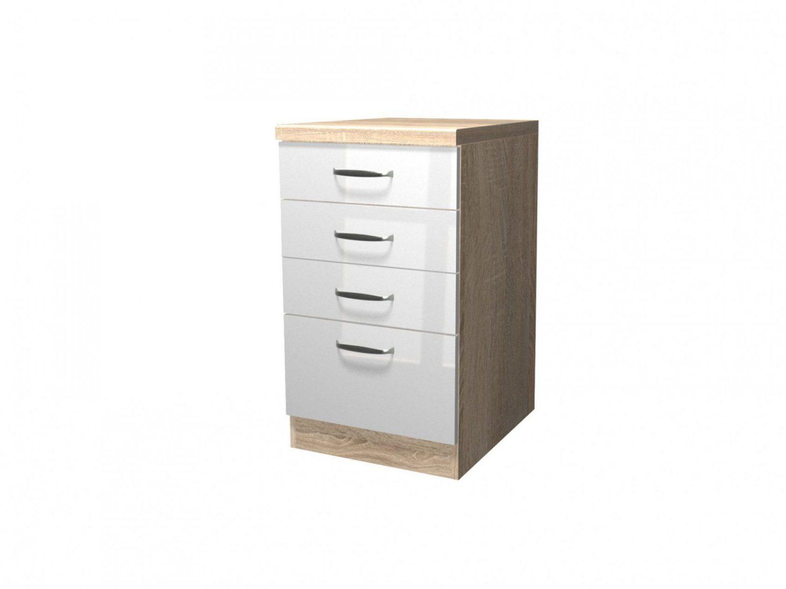 Küchenunterschrank Venedig  1 Auszug 3 Schubladen  50 Cm Breit von Küchenunterschrank Weiß 40 Cm Breit Bild
