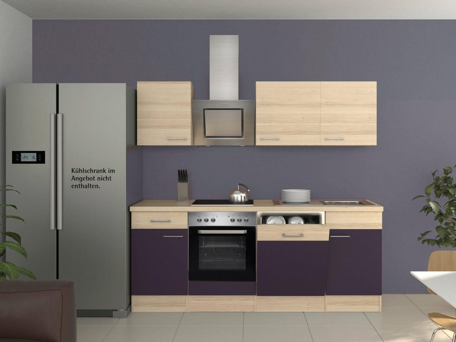 Küchenzeile 220 Cm Mit Elektrogeräten  Uruenavilladellibro von Küchenzeile 220 Cm Mit Kühlschrank Bild
