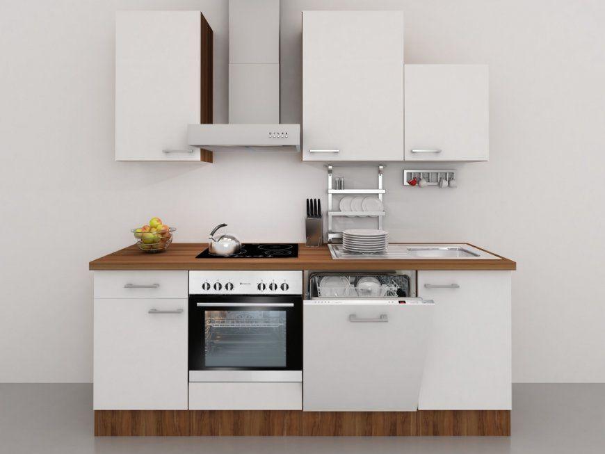 Küchenzeile 220 Cm Weiß Mit Dessauer Einbaugeräten Inkl Spüle Und von Küchenzeile Mit Elektrogeräten Ohne Kühlschrank Photo