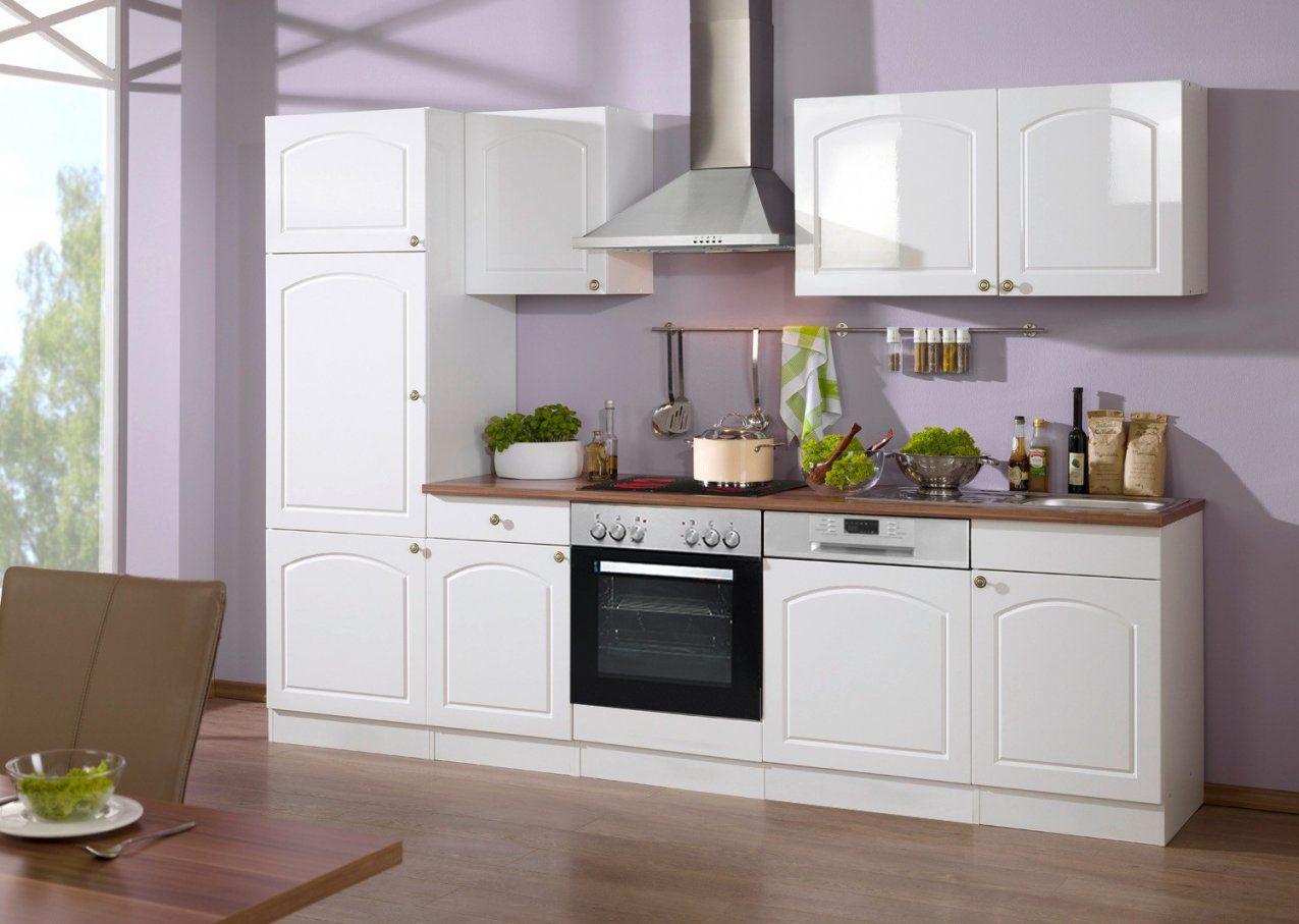 Küchenzeile Boston  Küche Mit Egeräten  Breite 280 Cm  Hochglanz von Küchenzeile 280 Cm Mit Elektrogeräten Günstig Photo