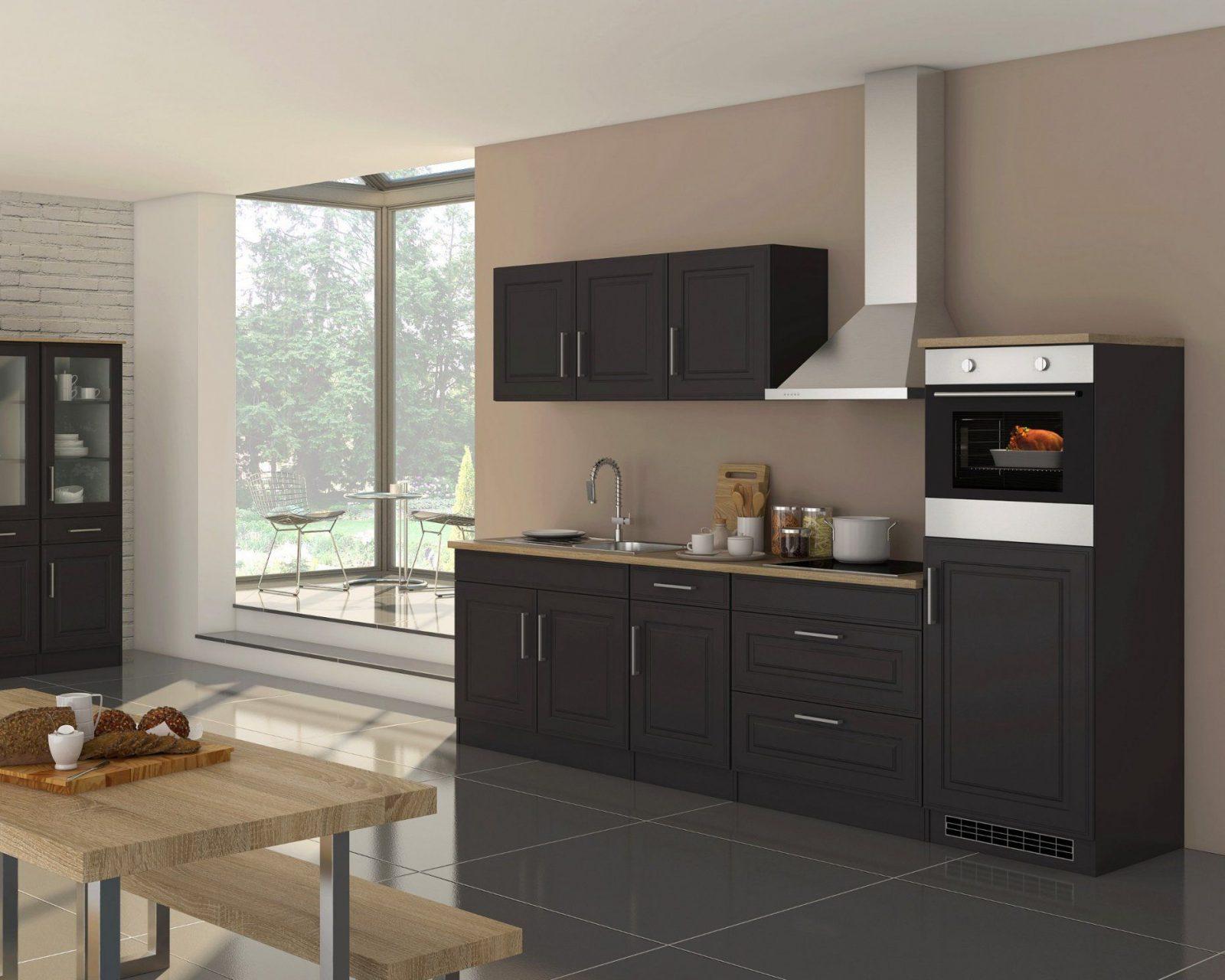 Küchenzeile Köln  Küche Mit Egeräten  Breite 290 Cm  Grau von Küchenzeile 230 Cm Breit Photo