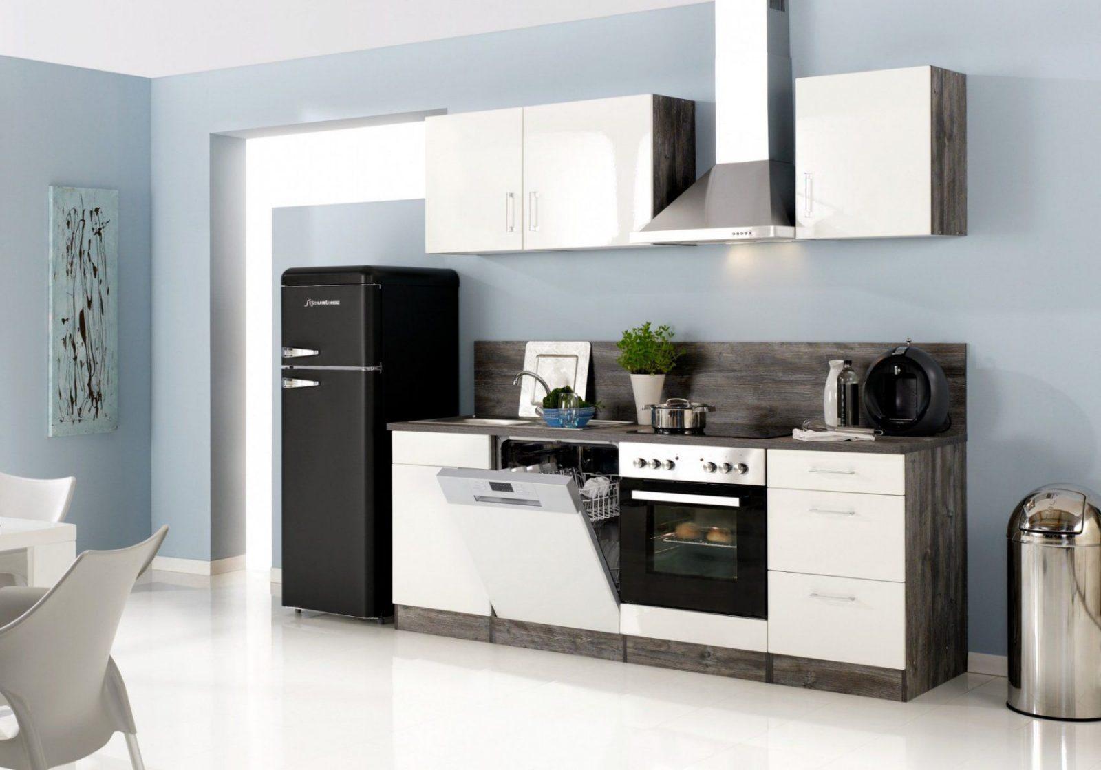 Küchenzeile Lissabon  Küche Mit Egeräten  Breite 280 Cm 14 von Küchenzeile 220 Cm Mit Kühlschrank Bild