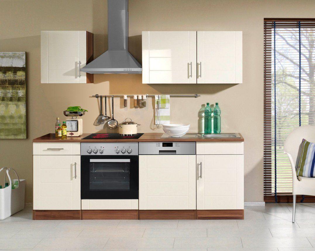 Küchenzeile Nevada  Küche Mit Egeräten  Breite 220 Cm  Hochglanz von Küchenzeile 280 Cm Mit Elektrogeräten Günstig Photo